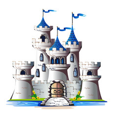 Fairytale tower vector