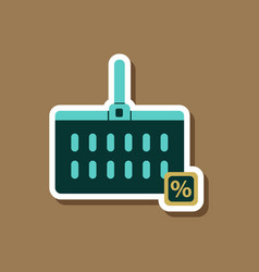 Fashion patch sale sticker supermarket basket vector
