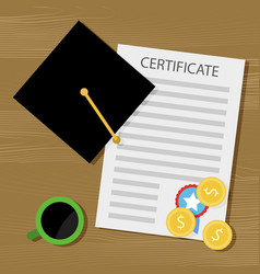 financing training and education for a diploma vector image