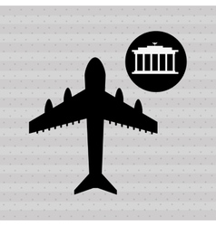 fly around the world design vector image