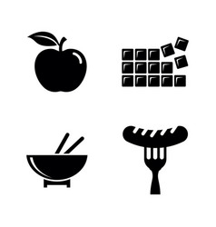 food and sweets simple related icons vector image