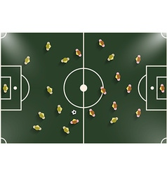 Football - Soccer Field Night or Evening Match Top vector image