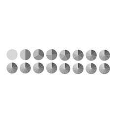 Fraction segmented circles set isolated on a vector