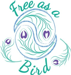 Free As A Bird vector image