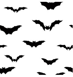 Halloween bat seamless pattern holiday halloween vector