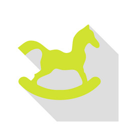horse toy sign pear icon with flat style shadow vector image
