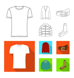 Isolated object man and clothing icon vector