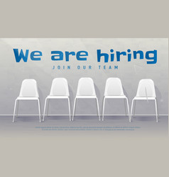 Job recruiting banner copy space we are hiring vector