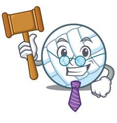 Judge volley ball character cartoon vector