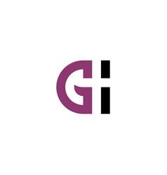 logotype g logo letter symbol element vector image