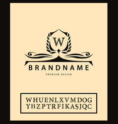 luxury vintage logo business sign label letter vector image