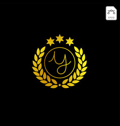 Luxury y initial logo or symbol business company vector