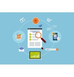 Mobile marketing elements vector