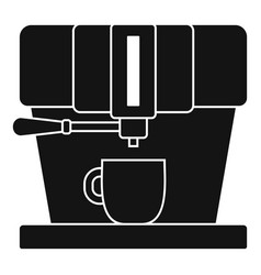 modern coffee machine icon simple style vector image