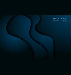 Modern dynamic liquid dark blue background vector