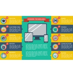 Modern flat infographic background vector