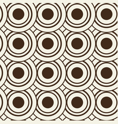 Monochrome seamless background with rounds vector