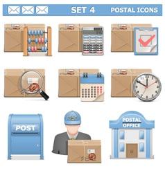 Postal Icons Set 4 vector