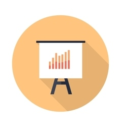 Presentation Screen with Bar Charts Isolated vector