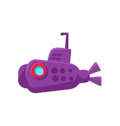 Purple Submarine Toy Boat vector