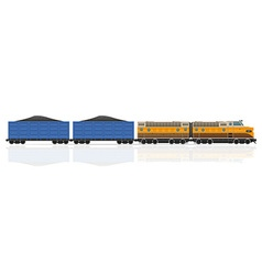 Railway train 04 vector