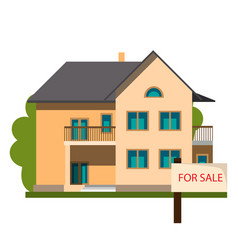 real estate and home for sale concept vector image vector image