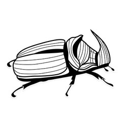 Rhinoceros beetle tattoo or for t-shirts vector