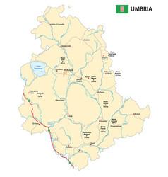 Road map italian region umbria vector