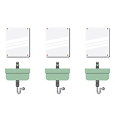 Row Of Lavatories With Mirrors vector image