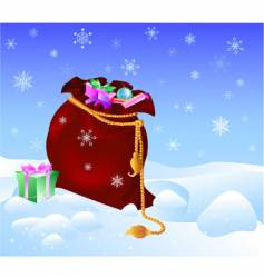 Sack with gifts vector