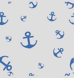 seamless pattern of anchors vector image
