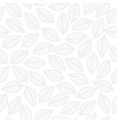 Seamless pattern with grey leaves vector