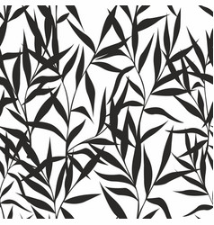 Seamless pattern with leaves on a white background vector