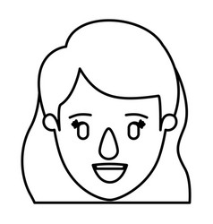 silhouette image caricature front view face vector image