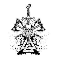 skull sword 2021 0005 vector image