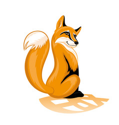 Sly orange fox vector