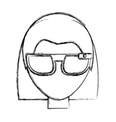 Smart glasses technology vector