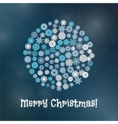 Snowflake christmas banner vector
