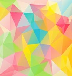 Spring vibrant pastel colored polygon triangular vector