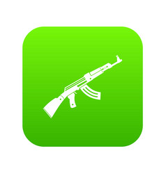 submachine gun icon digital green vector image