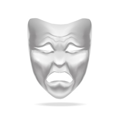 Template Blank White Mask Theatre vector