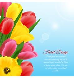 Tulip design background vector