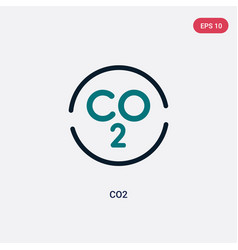 Two color co2 icon from maps and flags concept vector