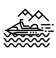water activity line icon vector image