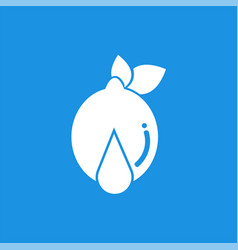water drop lemon logo design template and support vector image