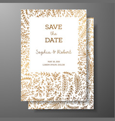 wedding vintage invitationsave the date card with vector image