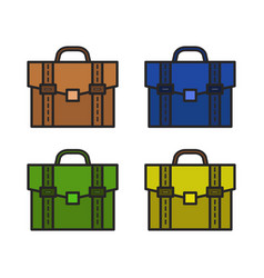 Work bag icon in on white background vector