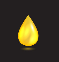 yellow liquid oil falling drop vector image