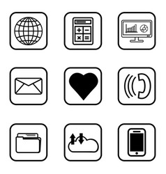 03 services icons set on white background vector image vector image