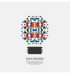 abstract bulb vector image